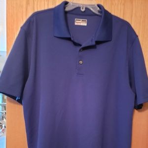 Mens XXL blue polo shirt